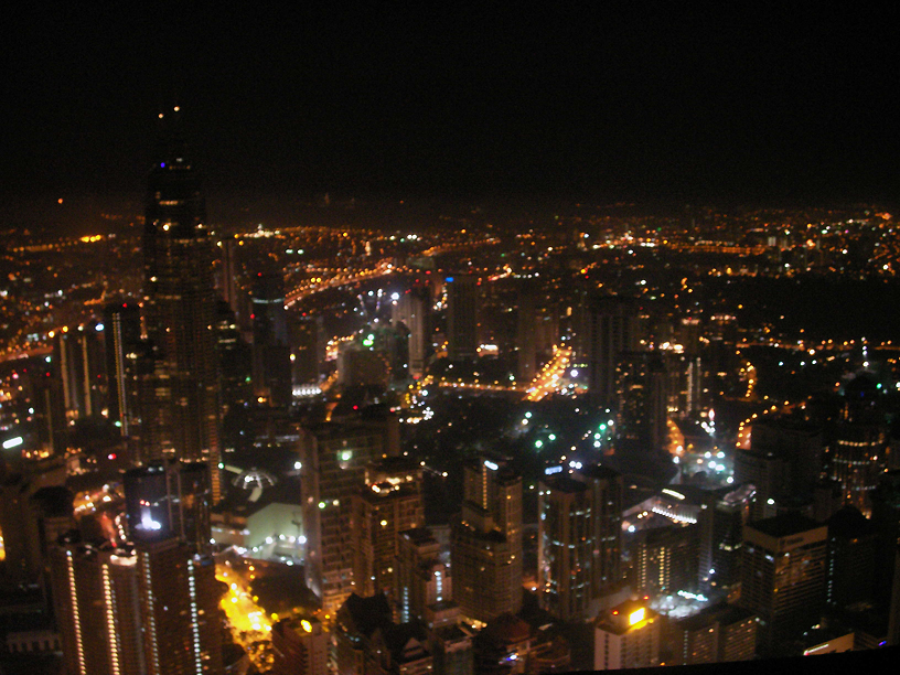 The spectacular view of the city from KL Tower