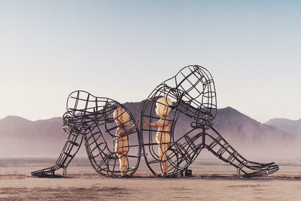 'Love' by Alexandr Milov, at Burning Man 2015